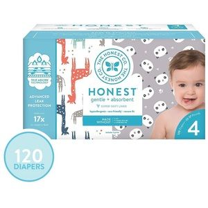 New Unopened Honest Company Size 4 Diapers